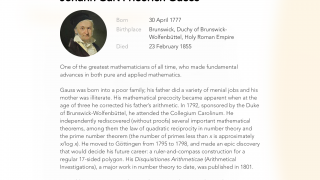 Biographies of historical figures add a human element to all this math stuff.