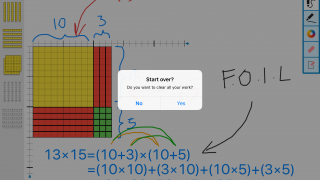 The whole board can be wiped clean with a tap (with a helpful double confirmation to prevent accidental deletions).