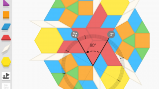 Use the protractor tool to explore angle relationships.