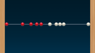 Beads can be moved into arbitrary places, and dragged in groups just like physical beads.