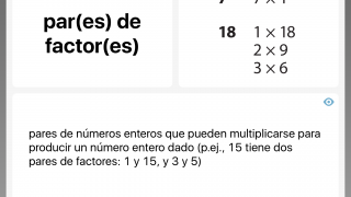The English-Spanish toggle can also turn the app into a bilingual math dictionary.
