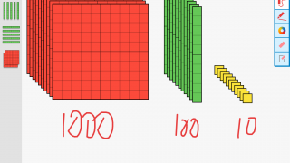 There's no 1,000 block, but you can make your own with clever use of the duplicate tool.