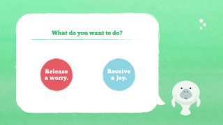 Students then choose whether to write a worry or joy.