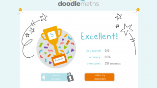 DoodleMaths provides positive reinforcement.