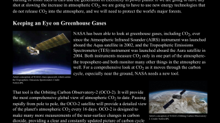 """The """"Learn More"""" section is mostly about NASA satellites but does discuss the carbon cycle."""