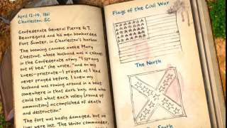 Explore history by flipping the pages of a diary.