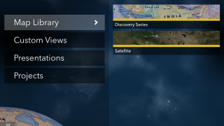 View maps as part of a series or choose a custom option.