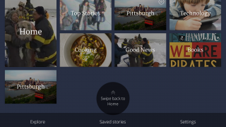 Individual sections and stories appear as tiles on screen; it's easy to swipe down to customize the stories you see.