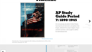 Explore the timeline to learn more about different events and figures from American History.