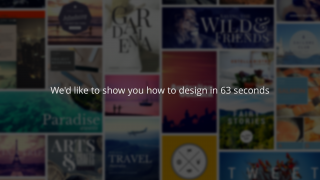 Canva is a graphic design tool for iPad and the web.
