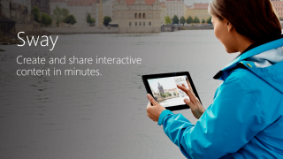 Sway is a digital storytelling app for Windows, iOS, and the web.