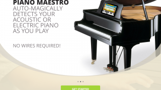 Piano Maestro is a tool to support piano practice. Kids can play an acoustic or electric piano or play the app's built-in keyboard.