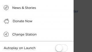 The menu is specific to your local NPR station. News & Stories has both podcasts and articles.