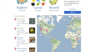 iNaturalist lets users record nature observations and share them with other nature lovers.