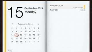 Calendar helps students stay current with assignments and due dates.