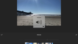 Add effects to individual slides and change the music volume on each one.