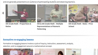 Classroom videos provide inspiration for teachers and can be used by students to reinforce learning.