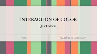 Never look at color the same way after studying Albers' brilliant insights.