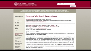 One of the site's sourcebooks covers the medieval era.