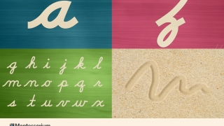 Practice tracing individual letters, see the whole alphabet at once, or draw in the sand.
