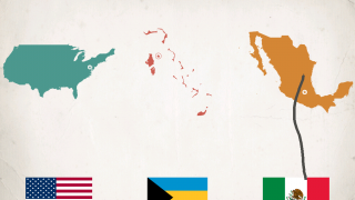 Flags add a colorful and cultural element to the map studies.