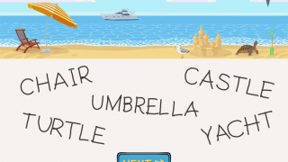 Animated rewards appear as kids complete tracings of scene-themed words.