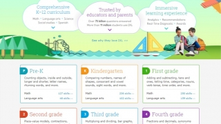 Choose from math and language arts Common Core content, social studies, science, or Spanish.
