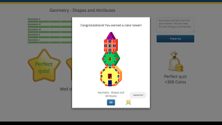 Students earn tower badges and points for meeting or exceeding requirements.
