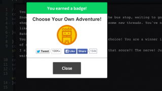 Stick with the lessons and earn badges!