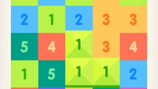 In Just Get 10, kids earn points for stacking tiles.