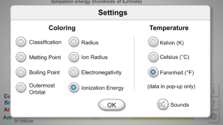 Settings menu shows all available coding and temperature options.