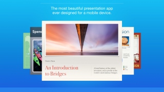 Create slideshow presentations from a tablet in a flexible, visually stunning way.