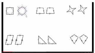 "Clear diagrams help in video clips like ""Rotating polygons 180 degrees about their center."""