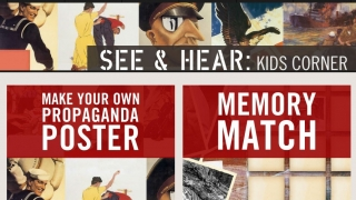 The Kids Corner features interactive WWII games and activities.