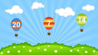 Pick the balloon with the highest number.