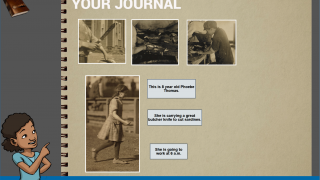 The student journal tracks selected photos and information.