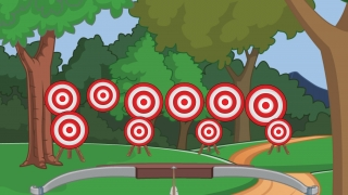 Shoot a bow and arrow to hit targets -- just like Robin Hood!