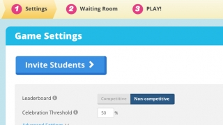 Teachers get a code and invite students to join a Gameshow.