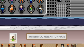 Laid-off workers go to the Unemployment Office.