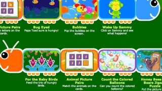 The preschool game collection includes some literacy games, a counting game, and some games just for fun.