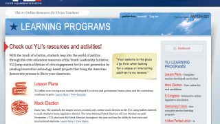 YLI has five sections that feature civics lesson plans and simulations.