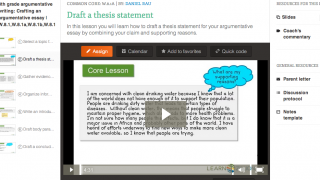 Video lessons model the writing process -- one of the site's strengths.