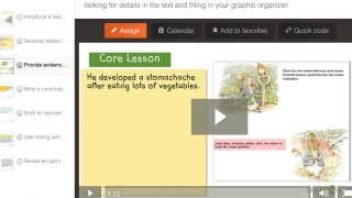 An example lesson -- part of a larger learning theme on evidence-based opinion writing.
