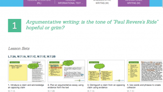 Here's a sample of an Argumentative Writing lesson set.