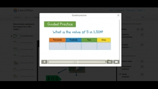 Guided practice videos help kids review and assess what they learned in the lessons.