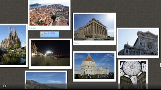 A photo-based canvas, showing how you might memorialize a trip.