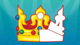Every five levels, kids get another piece of the crown puzzle, until it's completed after level 30.