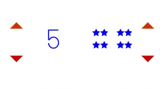 Numbers game: match the number with the correct number of stars.