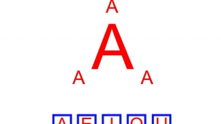 One of the more unique activities: clicking the smaller letters starts audio that demonstrates the different possibilities for vowel pronunciation.