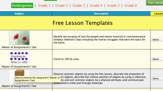 Teachers can browse free lesson templates.